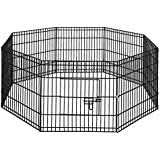 """24"""" 8 Panel Pet Playpen Portable Exercise Cage Fence Dog Puppy Rabbit"""