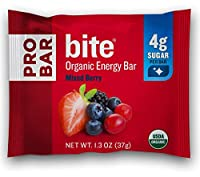 PROBAR - bite Organic オーガニック Energy Bar - Mixed Berry - USDA Organic オーガニック, Gluten-Free, Non-GMO Project Verified, Plant-Based Whole Food Ingredients, 4g Protein - Pack of 12