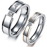 VALYRIA ジュエリー ファッション アクセサリー ペアリング セットカップル指輪 ハート型 czダイヤ 婚約 結婚 記念日 誕生日プレゼント バレンタインデー