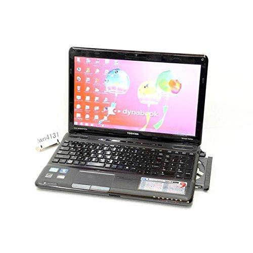 中古ノートパソコン 東芝 dynabook Qosmio T551/T6CB PT551T6CBFB Core i3 2310M 2.10GHz 8GB 750GB ブルーレイ Win7 Microsoft Office付き 地デジ カメラ HDMI
