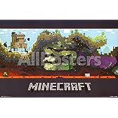 Minecraftの - 世界 ポスター プリント (86.36 x 55.88 cm)