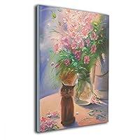 Shamp 花 花瓶 絵 壁掛け 絵画 インテリア ポスター アートポスター フレームレス装飾画 アートフレーム・ポスター 壁掛け 絵