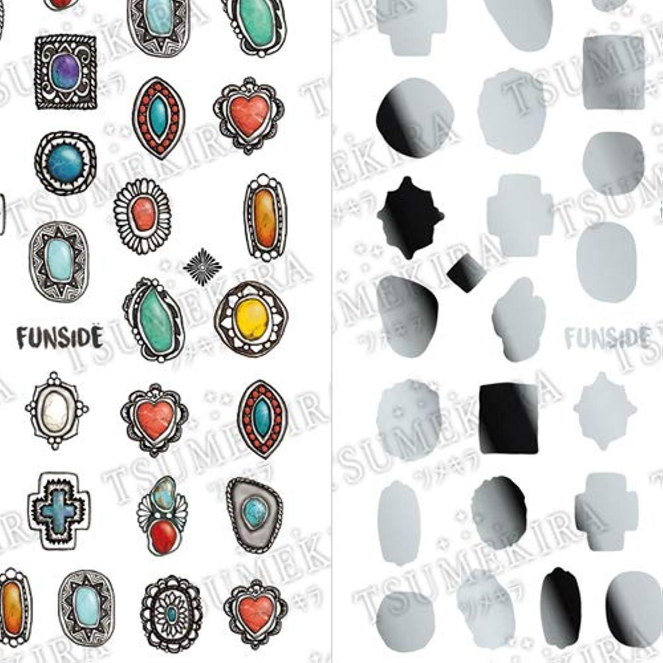 辛い素晴らしさ投獄TSUMEKIRA(ツメキラ) ネイルシール FUNSIDEプロデュース Indian Jewelry SG-FNS-101 1枚