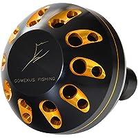 ゴメクサス (Gomexus) パワー リール ハンドル ノブ シマノ ダイワ カシメ 圧着 ノブ 改造専用, アリビオ レブロス 1000-4000 ドリル 用 アルミ 35 38mm シャフト 付き
