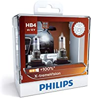 Philips X-treme Vision Plus 100% HB4 12V globes - twin display pack