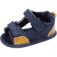 Weixinbuy Infant Baby Boy's Canvas Soft Sole Anti Slip Summer Sandals Shoes