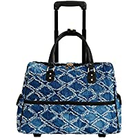 Mellow World Linsey Hb17325, Carry-on Rolling Laptop Luggage, 21-inch, Denim, One Size