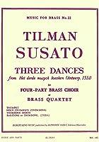 スザート : 3つの舞曲 (金管四重奏) ルデュック出版