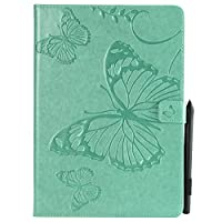 iPad Pro 10.5 Inch 2017 Holster Case Flip, MrStar Cover Suit Premium Vertical Leather Pouch Sleeve Carrying Case アクセサリー with Card Slot Holster for iPad Pro 10.5 Inch 2017 (Green)