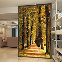 Lixiaoer カスタム写真の壁紙美しいカエデの森ゴールデンパス3D入り口ホテルの廊下装飾的な背景の壁紙壁画-350X250Cm