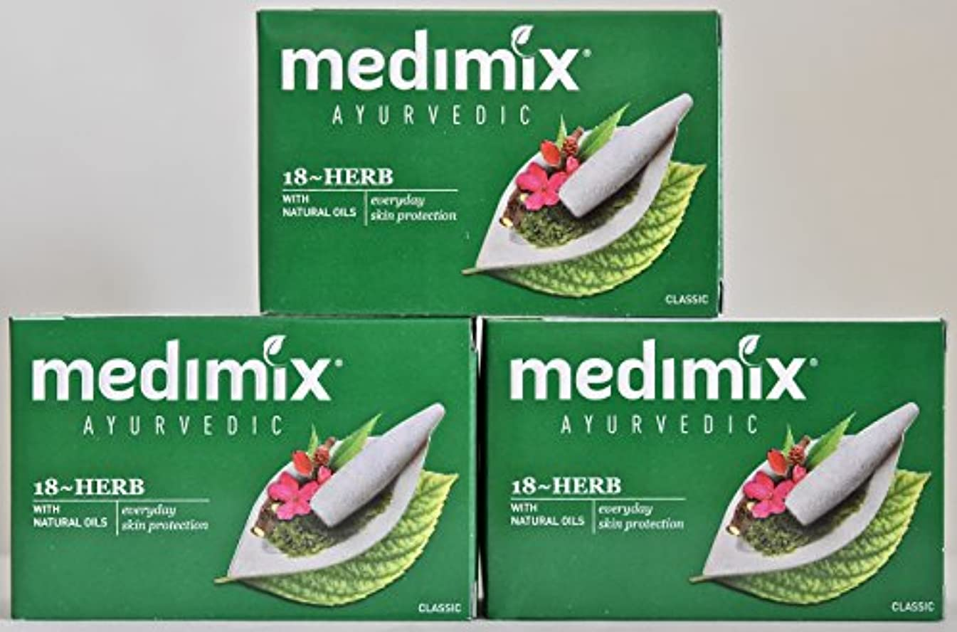 が欲しい応用保全medimix メディミックス 18ハーブス石鹸 3こ入り