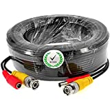 iKKEGOL 5M 10M 15M 50M 20M 30M BNC Video DC Power Extension Cable for CCTV Camera DVR Lead (30M)