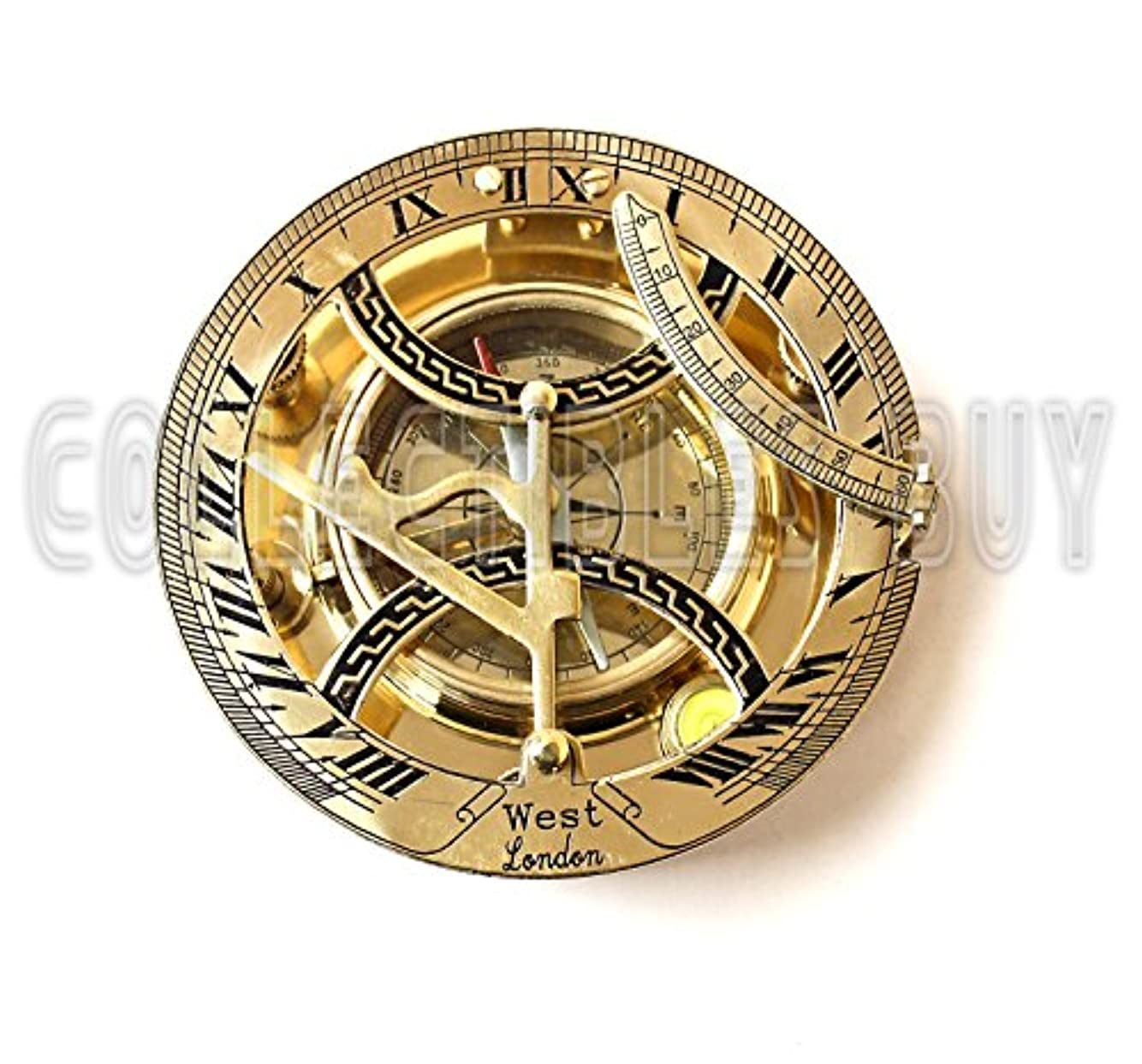 申込み怠なバーNautical Brass Sun Dial Compass 4 Marine Instument Sailor Gift 2015 by Collectibles Buy
