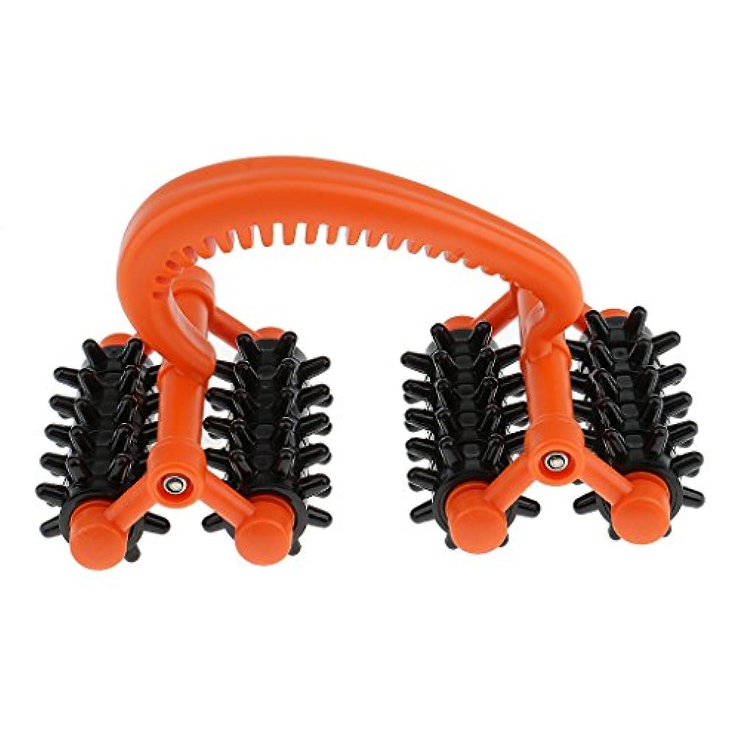 名前で調和ワイヤーKesoto ボディマッサージローラー ツボ押し付き ストレスマッサージ 使い易い 人間工学