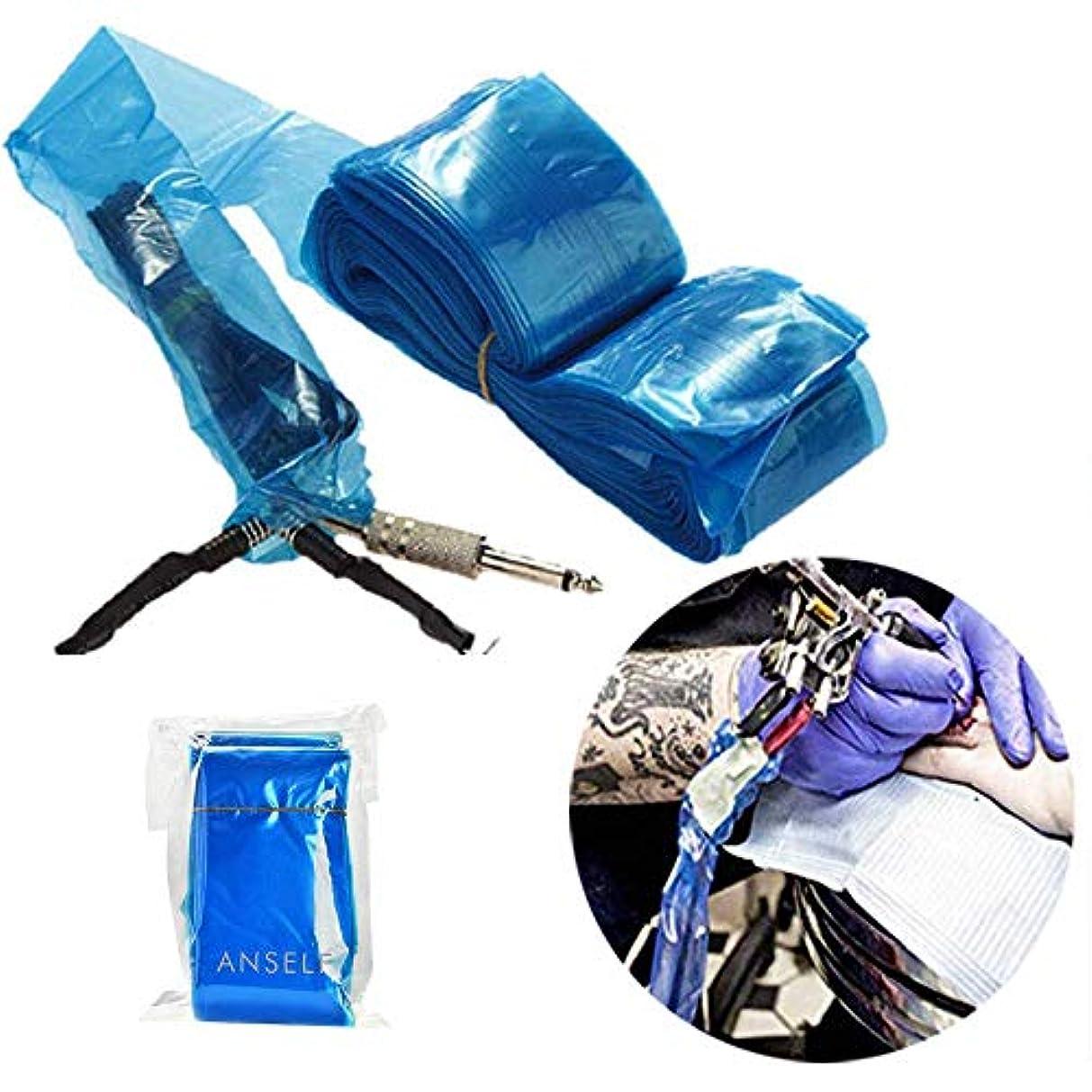問題専門繰り返したDecdeal タトゥークリップカバー タトゥー用品 タトゥーマシンプラスチック用使い捨てカバー 100Pcs