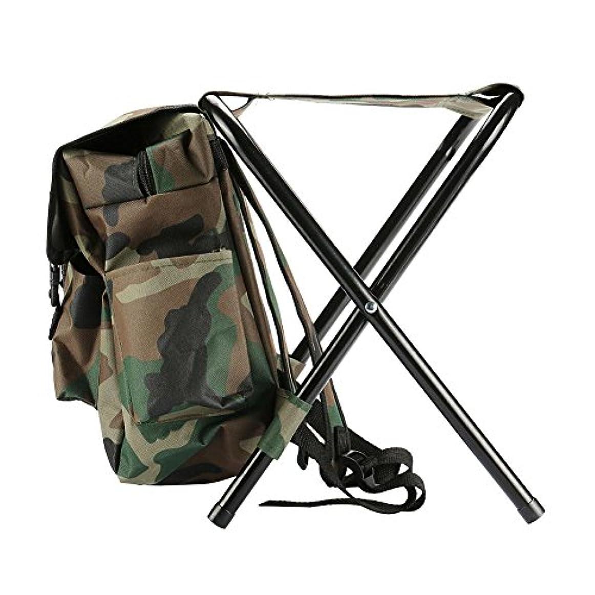 なしで一貫性のない先駆者Beautyrain 1個 バックパック椅子釣り 屋外ポータブル登山マウンテン折りたたみ多機能旅行ハイキングキャンプ 贈り物