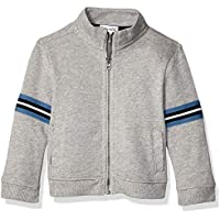 Splendid Baby-Boys RBNJ745 3 Stripe Rib Jacket Cardigan Sweater - Gray