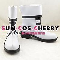【サイズ選択可】コスプレ靴 ブーツ J-0335 VOCALOID パンダ 言和 女性22CM