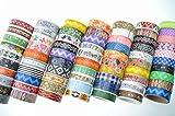 かわいい マスキングテープ 福袋 紙製 デコ テープ 包装 文具 レター クラフト まとめ 幅15mm×5m セット (20巻)
