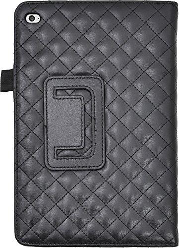 PLATA ( プラタ )  iPad mini アイパッドミニ 4 用 キルティング レザー スタンド ケース iPadmini4 アイパッドミニ4 【 ブラック 黒 くろ black 】 IPDM4-71BK