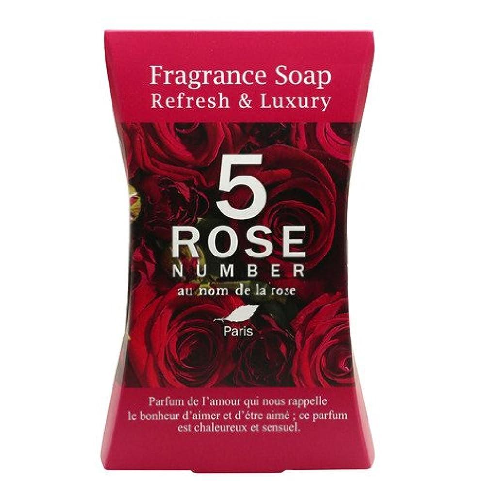大きなスケールで見ると微生物教授ROSE NUMBER ソープバー NO5 エレガントなバラの香り (100g)