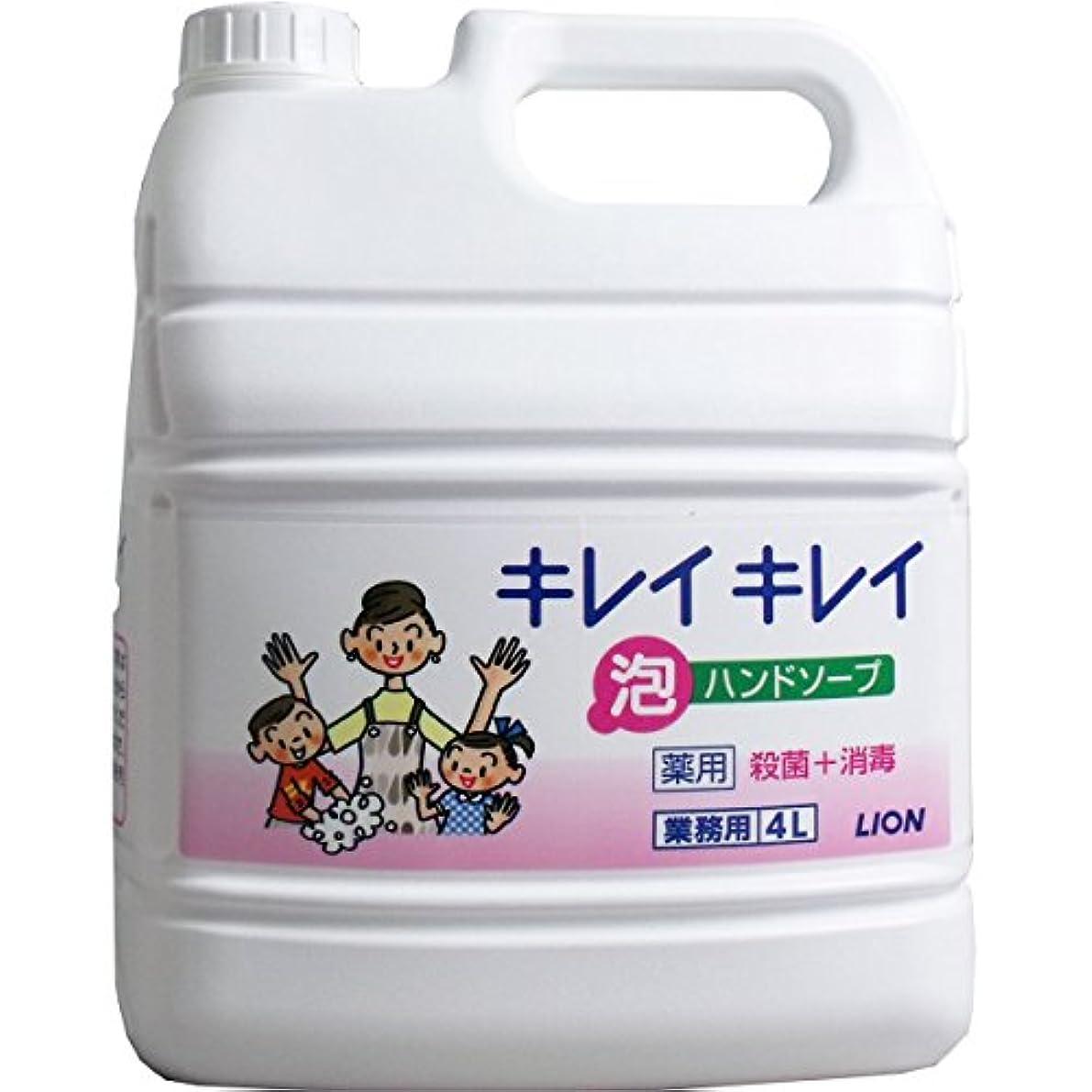 腸付き添い人平和なライオン 業務用 キレイキレイ 薬用 泡ハンドソープ 4L