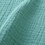 DOMOTEX ダブルガーゼ 無地 輸入生地 フランス 生地 ライトグリーン 巾130cm×1.5m切売カット
