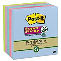 Post - itノートスーパースティッキー–スーパー付箋、3x 3、5つTropic Breeze色、590-sheetパッド/パック654–5sst ( DMI PK
