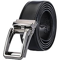 Belt For Men,Adjustable Men's Click Ratchet Belt Of Genuine Leather,Trim To Custom Comfort Fit With Gift Box