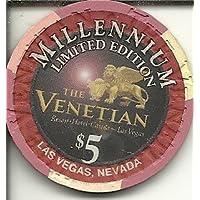 $ 5 Venetian Millennium Limited Editionラスベガスカジノチップ