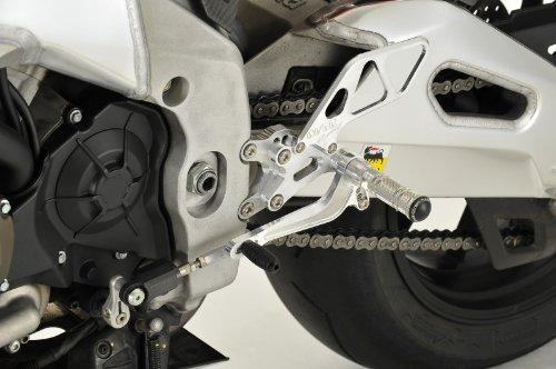 オーヴァーレーシング(OVER RACING) バックステップ 4POSITION シルバー RSV4 FACTORY TUONO1000R [トゥオノ] 51-913-01