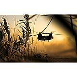 """チヌークBoeing ch-47Transport Helicopterファブリック布ロールポスター–-サイズ:40"""" x 24"""" / 21"""" x 13"""" ) 21""""x13""""(53cmx33cm)"""