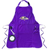 Team Sports America Ultimate NFL Tailgate Grilling Apron, Baltimore Ravens