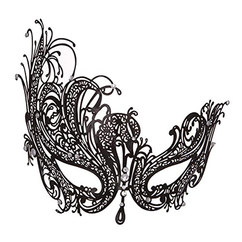 元のベアリングトークマスクダイヤモンドカットアウトマスク金属仮装ハロウィーンマスク