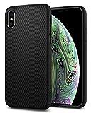 【Spigen】 スマホケース iPhone XS ケース/iPhone X ケース TPU 米軍MIL規格取得 耐衝撃 リキッド・エアー 057CS22123 (マット・ブラック)
