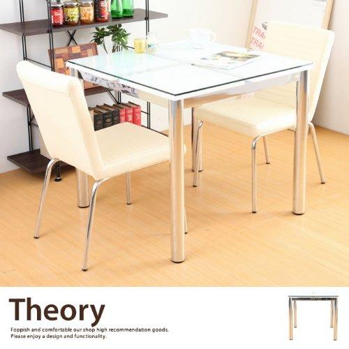 ダイニングテーブル 80×80 2人用 テーブル ガラス 強...