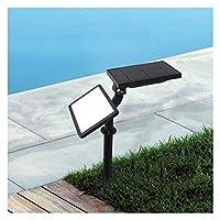 屋外の太陽光グランド投光器、防水景観スポットライトガーデンコートヤード屋外の芝生ライトガーデンライト