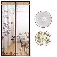 蚊耐性大型メッシュ スクリーン,磁気スクリーン ドア夏完全フレーム velcro ベッドルーム ホーム穿孔画面ドア-O 100x220cm(39x87inch)
