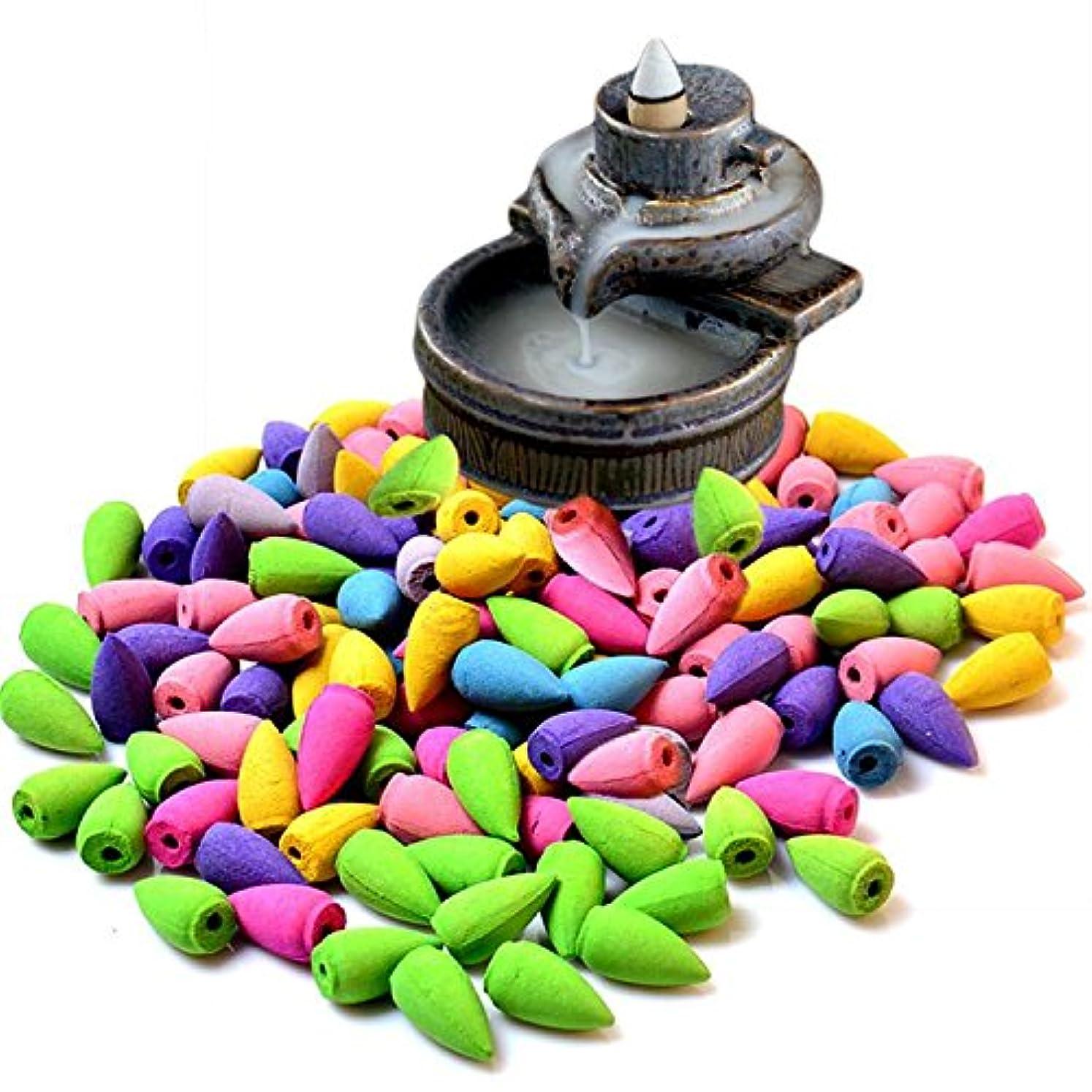 倫理的コミュニケーション一部ECYC Rerro  陶器の香炉 室内用バックフローつり香炉 アロマセラピー用の香立て  収集可能 B01LC3EI7O