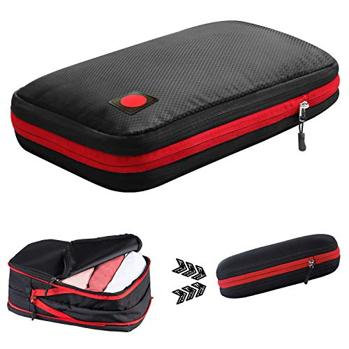旅行用収納バッグ 超大容量 圧縮バッグ ファスナー 防水 軽量【旅行用 出張 キャンプ 】 (ブラック)