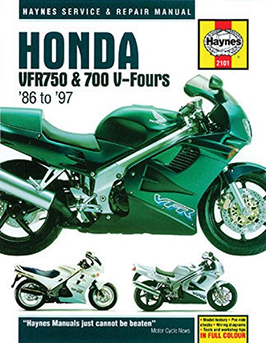 Honda VFR750 & 700 V-Fours 1986 Thru 1997 (Haynes Service & Repair Manual)