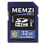 Memzi Pro 32GBクラス1080MB / s SDHCメモリカードfor Nikon Coolpix PまたはSシリーズデジタルカメラ