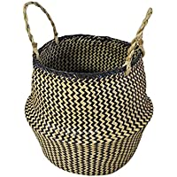 収納 シーグラス バスケットカゴ シーグラス バスケット容器 籠 バスケット 収納 収納 かご 収納 バスケット アジアン 雑貨 かごバッグ
