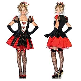 不思議の国のアリス 女王服セット (ワンピース ・ 髪飾り ・ 手袋) コスチューム レディース フリーサイズ