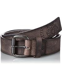 (ディーゼル) DIESELメンズ モヒカンプリント レザーベルト - B-PROFILES - belt