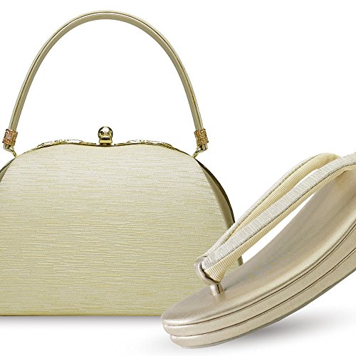 帯地 フォーマル 草履バッグセット (GOLD)