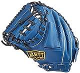 ZETT(ゼット) 少年野球 軟式 キャッチャー ミット グランドヒーロー (左投げ用) BJCB71712 ブルー