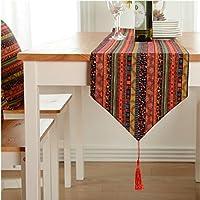 OSONA 赤色 ストライプ テーブルランナー 北欧 テーブルセンター 新居祝い 花模様 おしゃれ 四色 四サイズ 縦160cm*横30cm