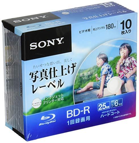 追記型 片面1層25GB 6倍速 鮮やかに印刷できる写真仕上げ ホワイトワイドプリンタブル 10枚パック 10BNR1VHGS6