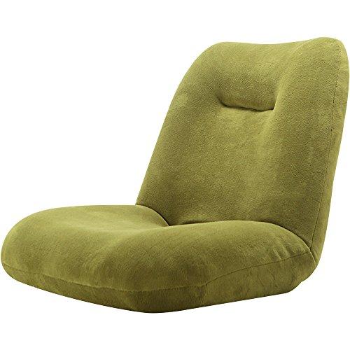 LOWYA (ロウヤ) 座椅子 42段階リクライニング ワイド座面 ポケットコイル ソフト生地 オリーブ おしゃれ 新生活